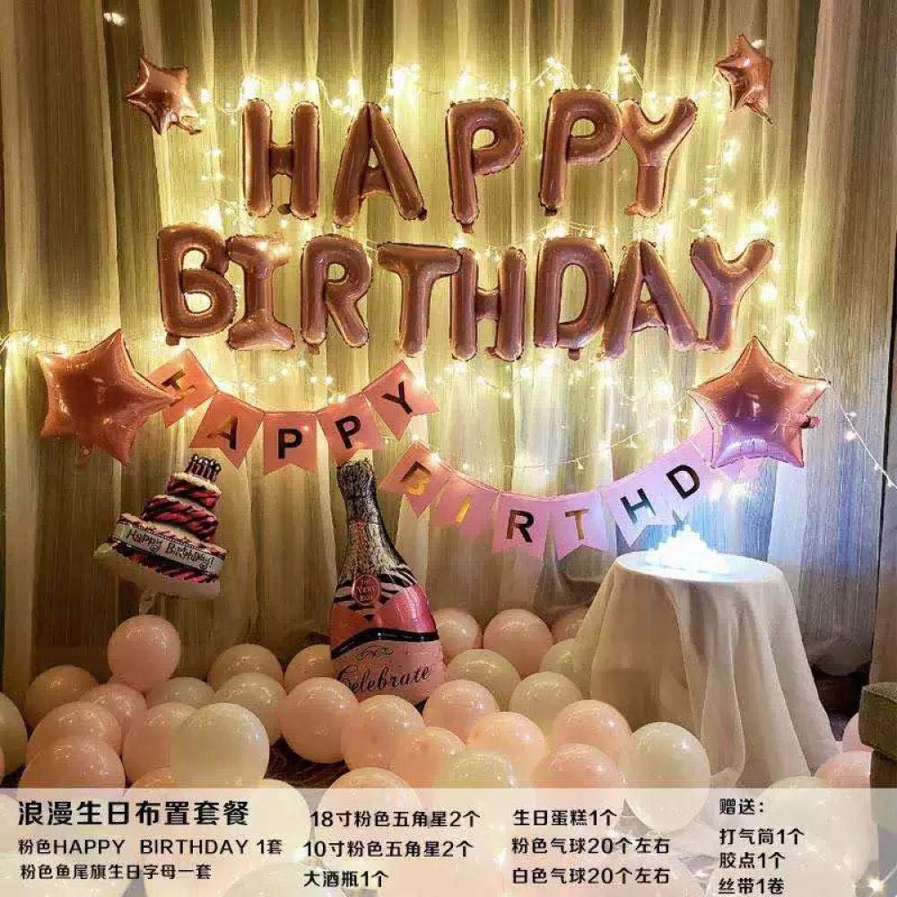 Decoración de cumpleaños Adulto Diseño de escena de fiesta ...