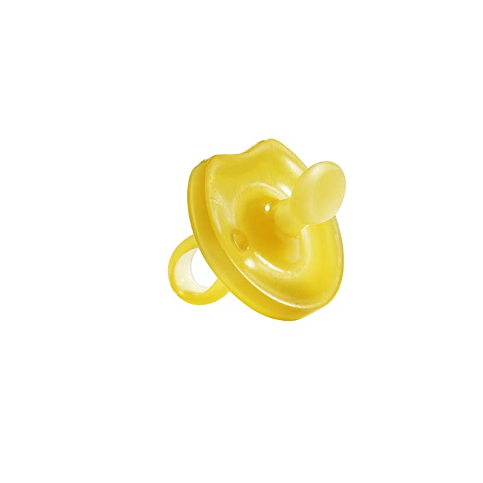 Natursutten 2 Pack BPA Free Natural Rubber Pacifier Butterfly Rounded 12 Month
