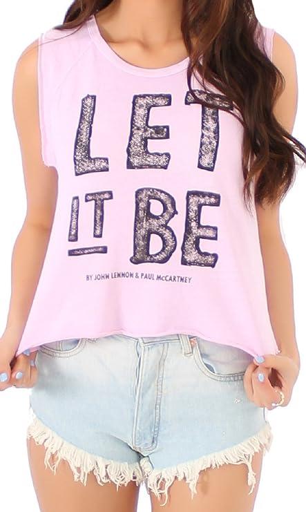Beatles Distressed Logo Girls Juniors Black Tank Top Shirt New Official
