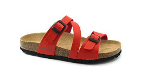 GRUNLAND Sara CB0016 Zapatillas Rojas Hebillas anatómicas Birk Mujer 36: Amazon.es: Zapatos y complementos