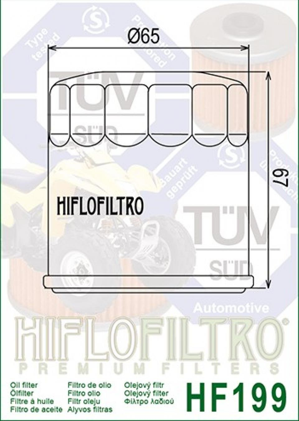 Filtre /à huile Hiflo HF199 quad Polaris 570 Sportsman 2014 /à 2016 2520799 Neuf
