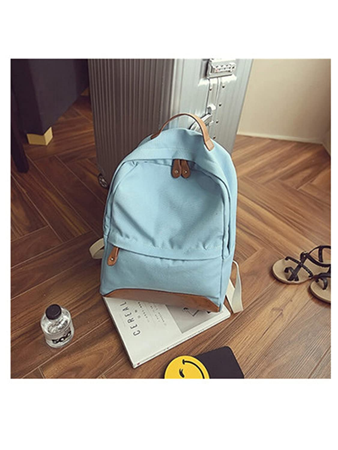 Amazon.com: Tyler Morrison Canvas Women Backpack Korean Fresh Stitching School Bagpack New New Mochilas Feminina Candy Color Girls Backpacks Black: Shoes