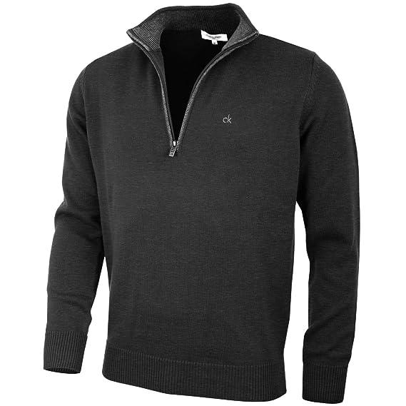 798b34d349b Calvin Klein Golf Mens 2019 Chunky Cotton 1/2 Zip Sweater