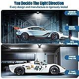 Tanbaby Deformable LED Garage Lights, 3 Leaf Garage Light, Tribright LED Adjustable Light Tri Bright Garage Light 60W Garage Lights Triple Glow LED Garage Light for Garage, Working Light