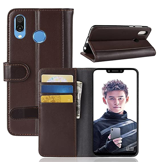 check out 83b8d 2e304 Amazon.com: Huawei Honor Play Case,Huawei Honor Play Genuine Leather ...