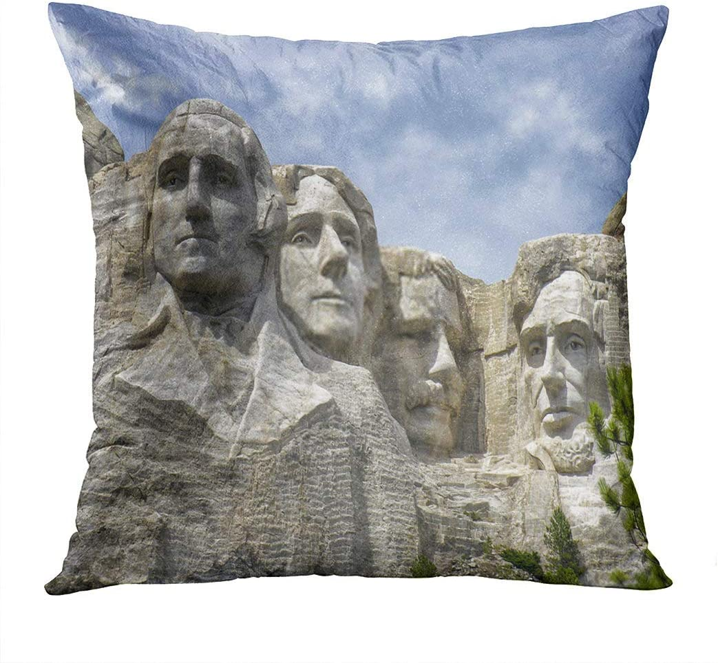Shenywell Throw Pillow Cover 26x26 Inch Mount Rushmore National Monument South Dakota Home Artwork Living Room Bedroom Office Decor Prints Easy to Hang