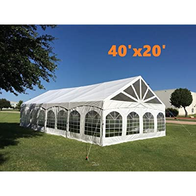 Heavy Duty Fire Retardant PVC Party Tent Canopy Shelter with Removable Window Walls - 40'x20' PVC Marquee : Garden & Outdoor