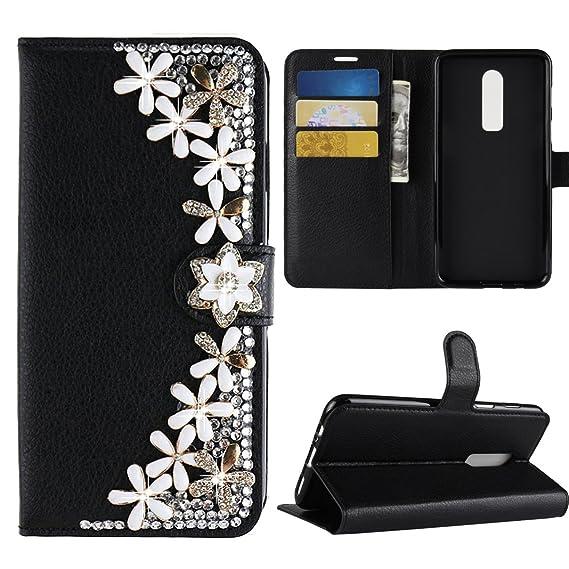 the best attitude ca063 0ca50 Amazon.com: Best Alice for Oneplus 6 Case, 3D Bling Diamond Wallet ...