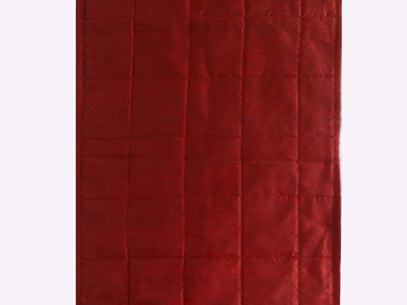 Quilted Bed Runner - Burgundy Bed Scarf Long Side Runner Throw King/Queen/Twin Size with Decorative Cushion Cover Polyester 20'' Wide X 102'' Long (50 cm x 300 cm)