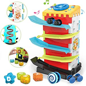 REMOKING Multifunctional Activity Play Center, Early Educational Baby Toys, 5 in 1 Baby Toddler Multipurpose Activity Cube with Music&Light, Great Gifts for 1 2 3 Year Old Kids boy Girl