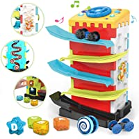 REMOKING Baby Toys 5 in 1 Activity Cube,Early Educational Toddler Toys,STEM Play Center with Color Shape Sorter,Race Car…