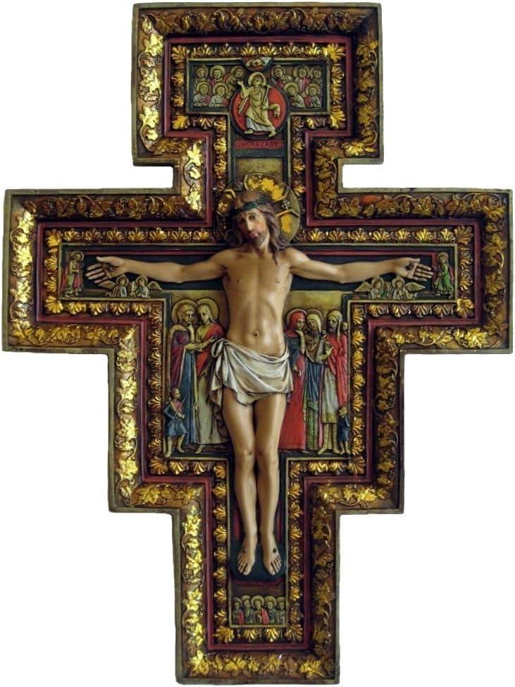 Josephs Studio SAN DAMIANO CROSS Large 18 Beautiful Renaissance JESUS Easter