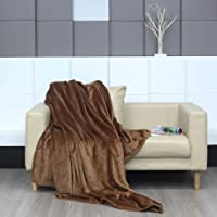 Zerbeyx flannel blanket 86*70 inches warm soft oversized double side blanket plain woolen various color choice throw for…