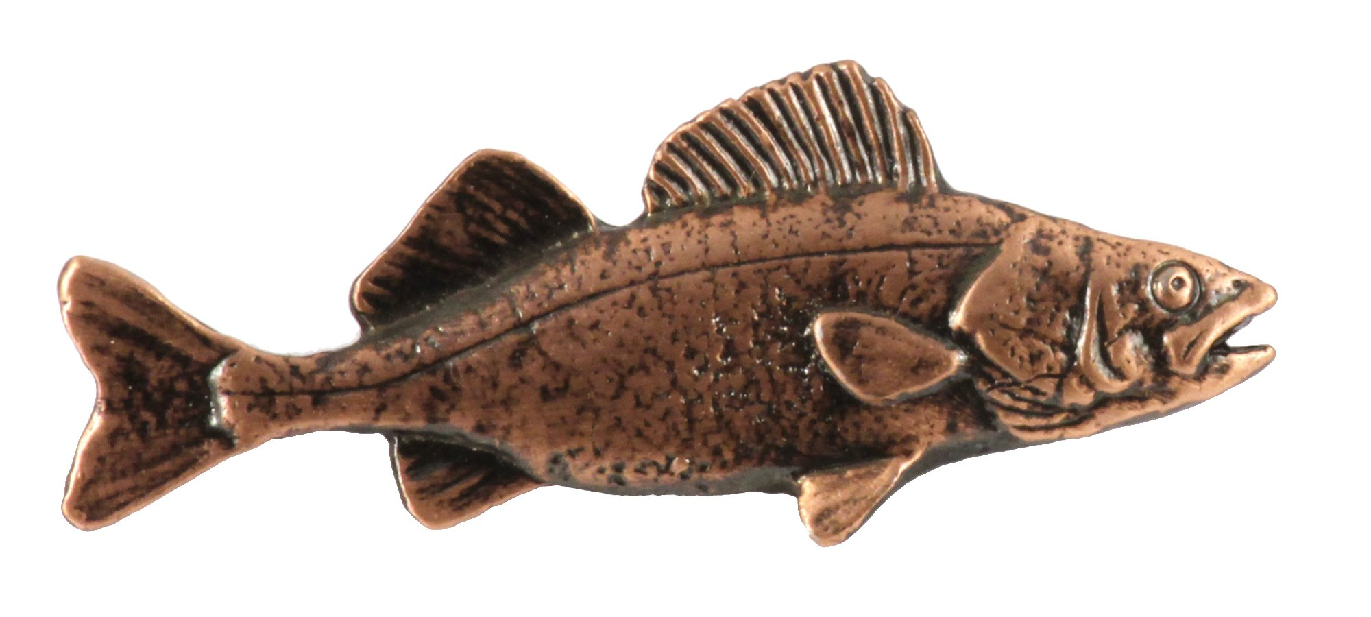 Creative Pewter Designs, Pewter Walleye, Handcrafted Freshwater Fish Lapel Pin Brooch, Copper Plated, FC075 by Creative Pewter Designs (Image #1)