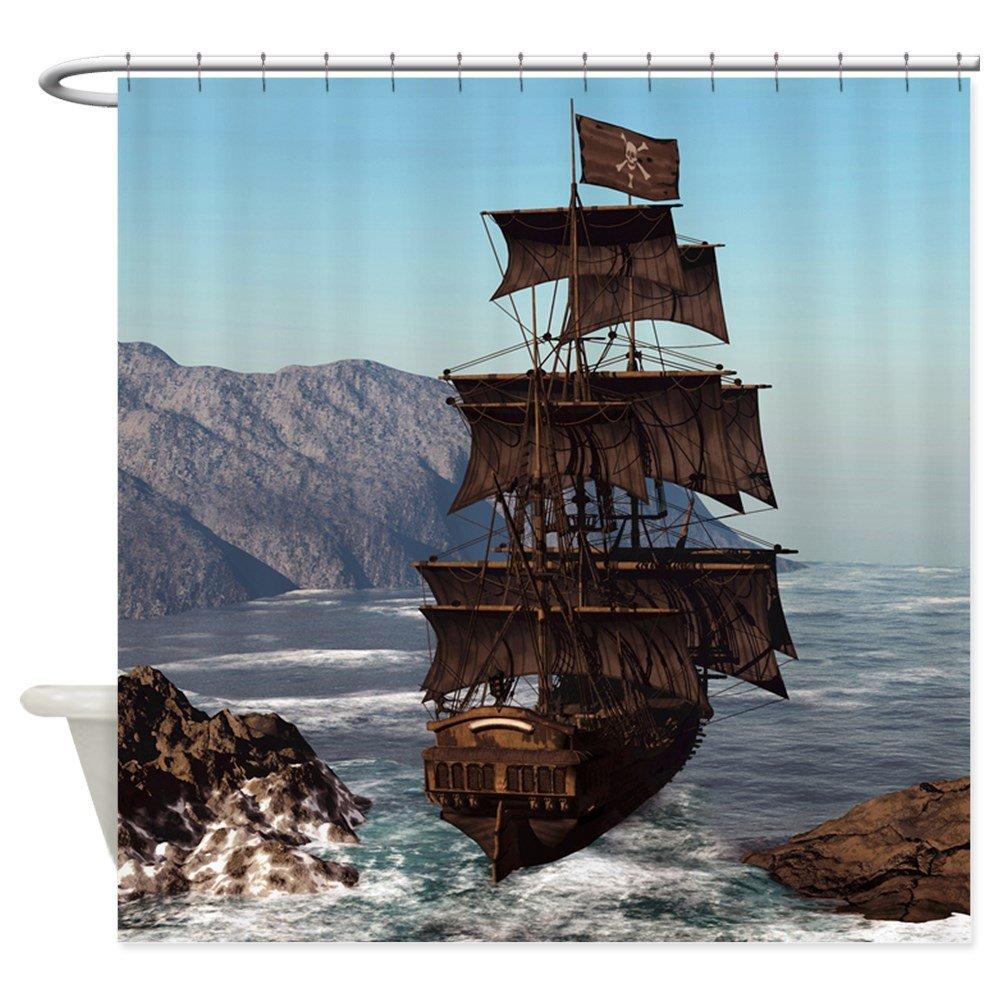 Amazon CafePress Pirate Ship Shower Curtain Decorative Fabric 69x70 Home Kitchen