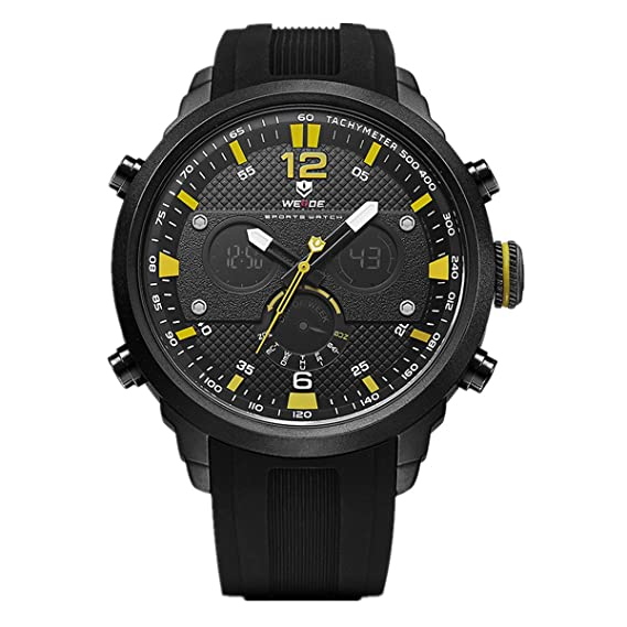86946840d WEIDE hombres de cuarzo Casual Relojes analógico Digital Deportivo reloj de  pulsera impermeable militar Ejército reloj