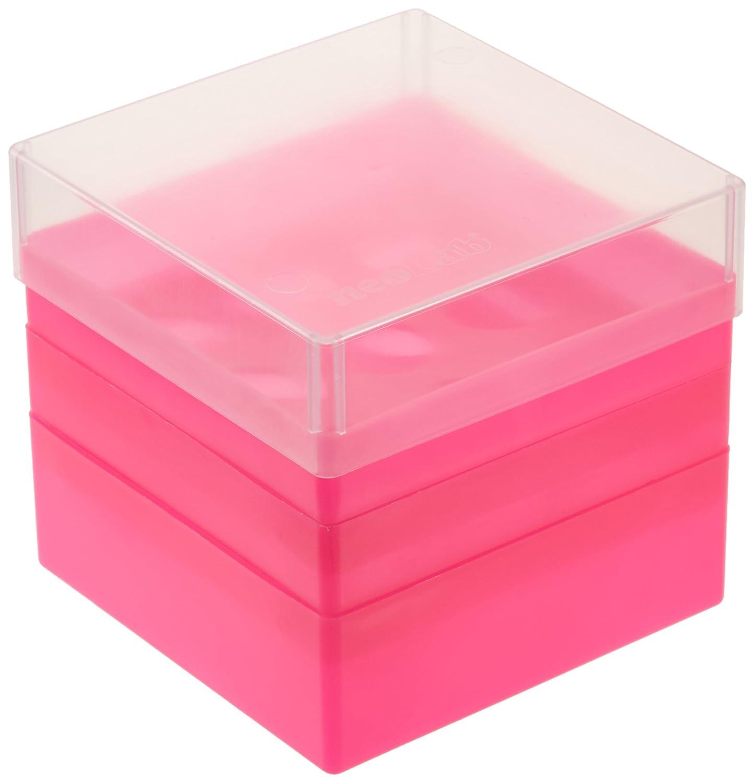 Neolab 2 1925, tubetto da 50 ml, 3 x 3 posti in polipropilene Storage box rosa tubetto da 50ml 3x 3posti in polipropilene Storage box rosa 2-1925