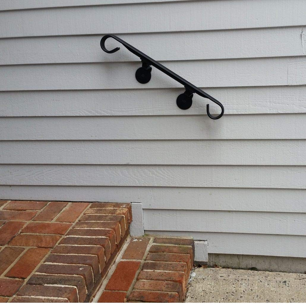 Iron X Handrail Wall #2-24 Wall Mounted Handrail