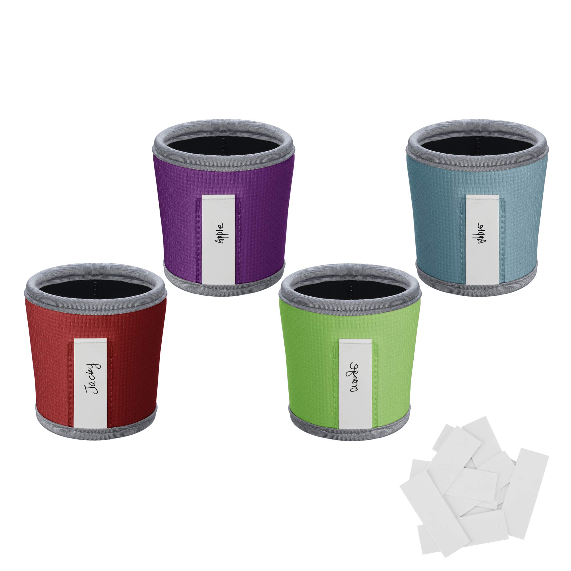 Pack of 2 CM Reusable Coffee Mug Sleeve Cover Coffee Cup Sleeve Cover Heat Resistant Neoprene Insulator Sleeve for Coffee Tea Hot Cold Beverage