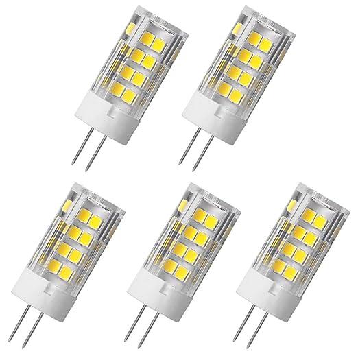 Aoxdi 5X Lámpara de LED G4 5W, Blanco Frío, Dimensiones (OXL):