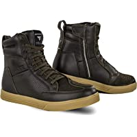 SHIMA Blake Motorschoenen voor mannen, leer, ademend, versterkte straatschoenen met ritssluiting aan de zijkant…