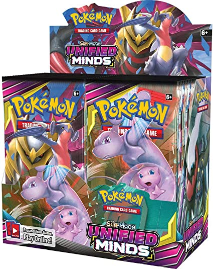 Factory Sealed From Box Pokemon 10 UNIFIED MINDS Booster Pack Lot
