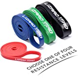 Pull Up Assist Bands, LizardMad Natural Latex Mobility Band - Stretch Resistance Band - Powerlifting Bands - Extra Durable and Perfect for Resistance Training - SINGLE or SET