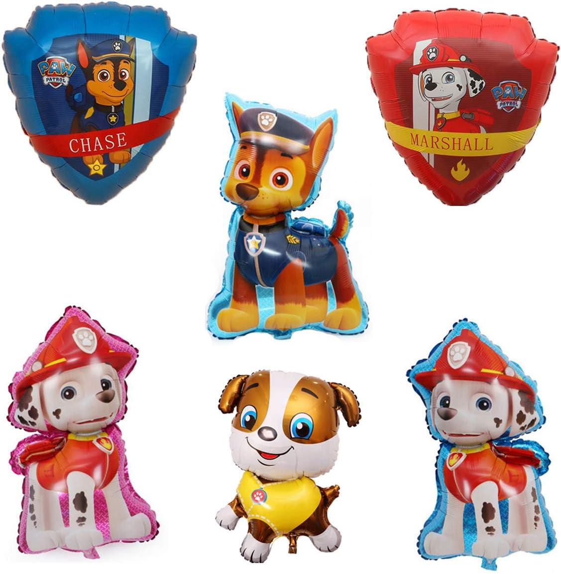 SUNSK Paw Dog Patrol Globos Foil Cumplea/ño Balloons Decorar Fiestas Suministros Party Decoraci/ón Ni/ños Regalo 6 Piezas