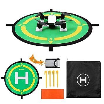 Cr Drone Landing Pad, helipuerto Impermeable portátil de Plegado ...