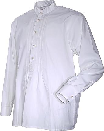 Job - Camisa Casual - Básico - Cuello Mao - Manga Larga - para Hombre: Amazon.es: Ropa y accesorios