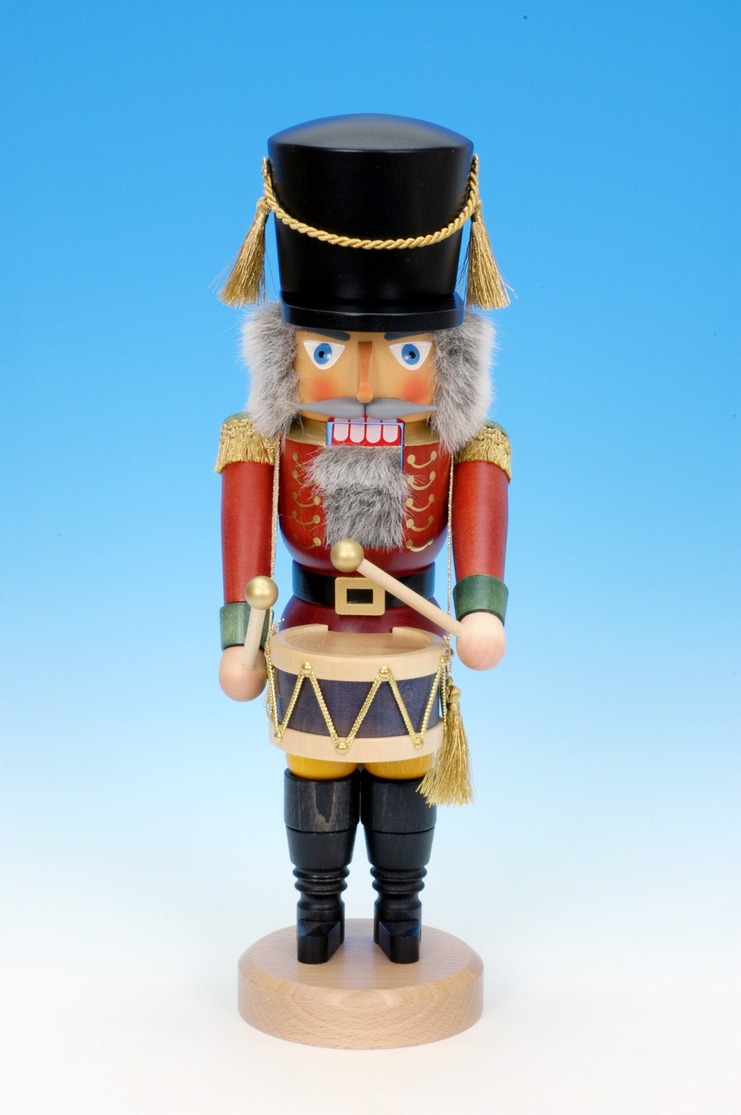 Christian Ulbricht Nutcracker - Drummer Red - Glazed by Christian Ulbricht