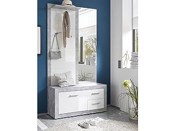 Garderobe Flur Weiss