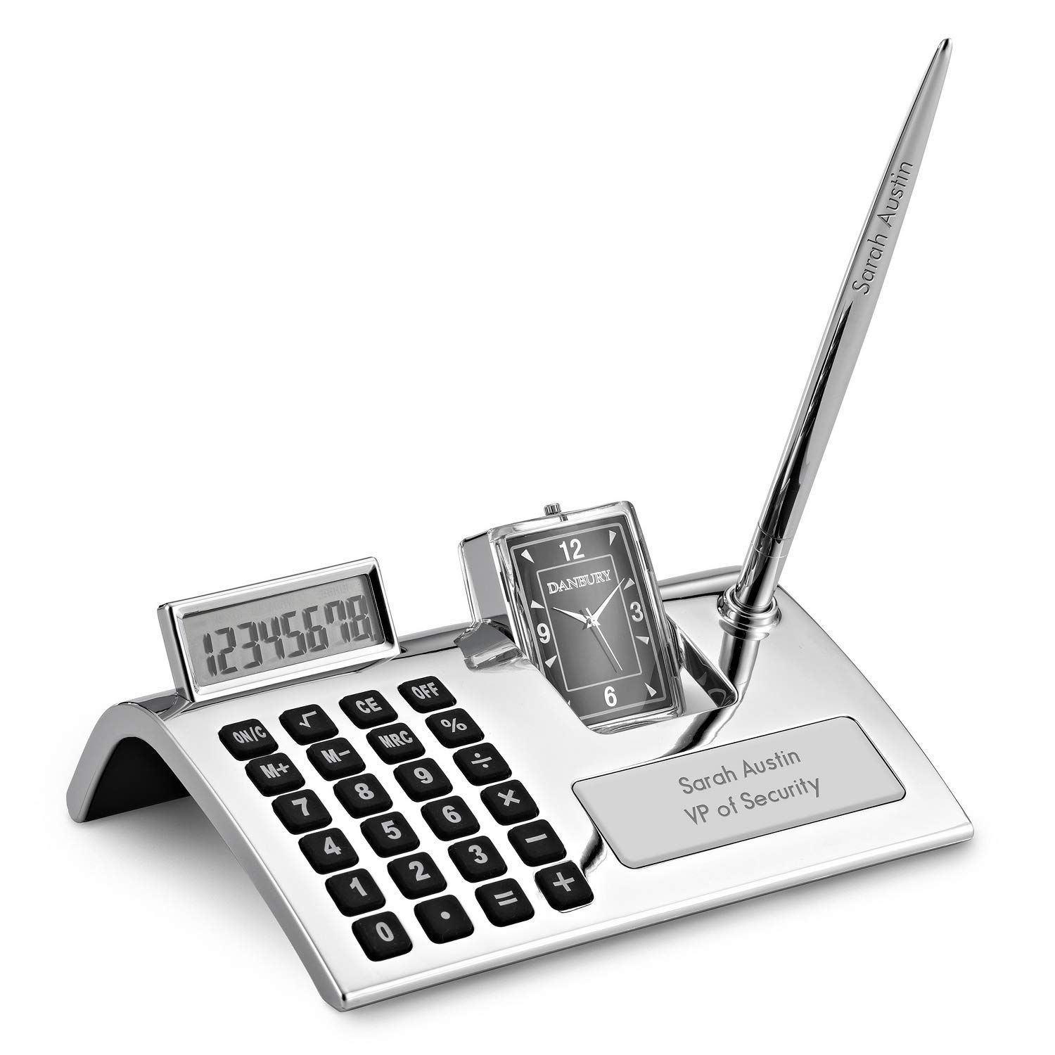 Things Remembered Personalized Curved Calculator Pen Stand with Engraving Included by Things Remembered