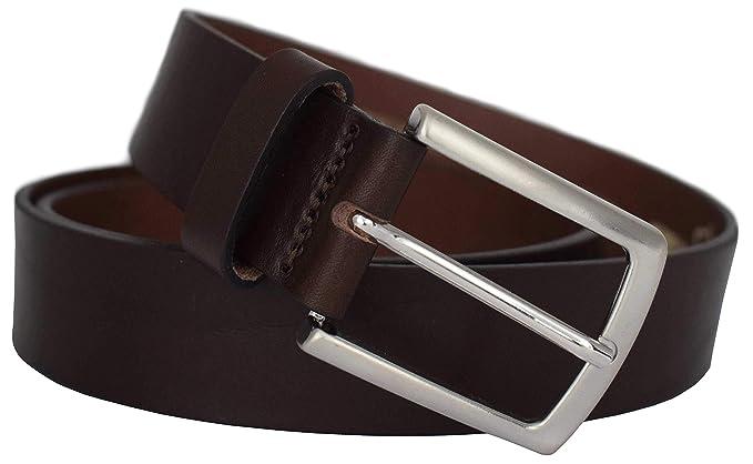 c5d1b9acae3918 Schwarzer Ledergürtel - PREMIUM Vollrindledergürtel - für Herren aus 100%  Echtem Leder in 35mm Breite