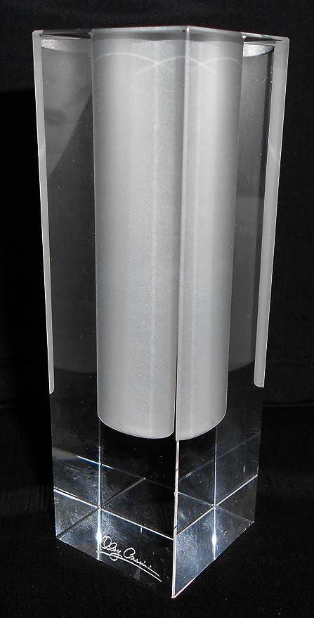 Amazon Oleg Cassini 5 Inch Crystal Bud Vase Pure Kitchen Dining