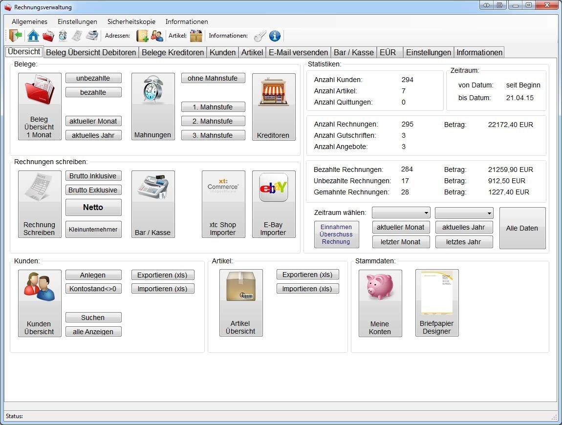 Rechnungsprogramm Kleinunternehmer Angebote Rechnungen