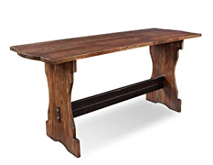 Sunset Trading Cabo Dining Table, Distressed walnut