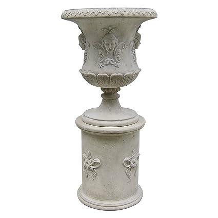 Design Toscano Goddess Flora Architectural Garden Urn Statue With Plinth