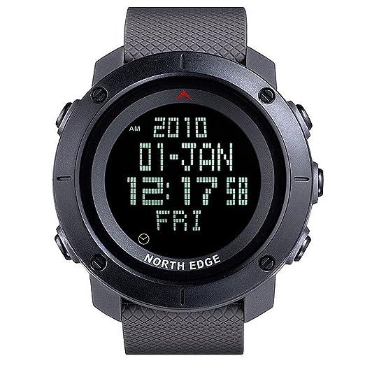 5 opinioni per NORD EDGE Sport Uomo Orologio digitale LED Esercito LED Indietro Display