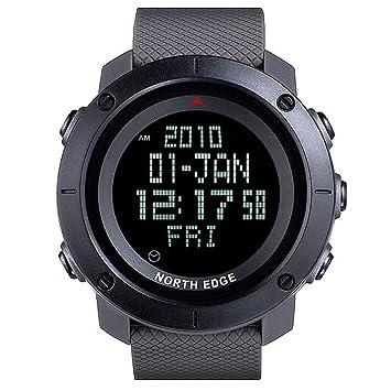 NORTH EDGE Reloj Deportivo para Hombre Reloj Digital Ejército LED Luz Trasera Pantalla Resistente al Agua