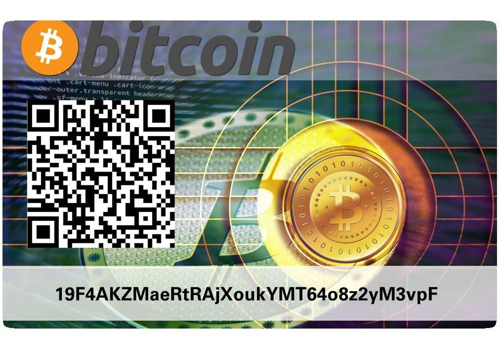 Bitcoin Paper Wallet Card Hardware Wallet