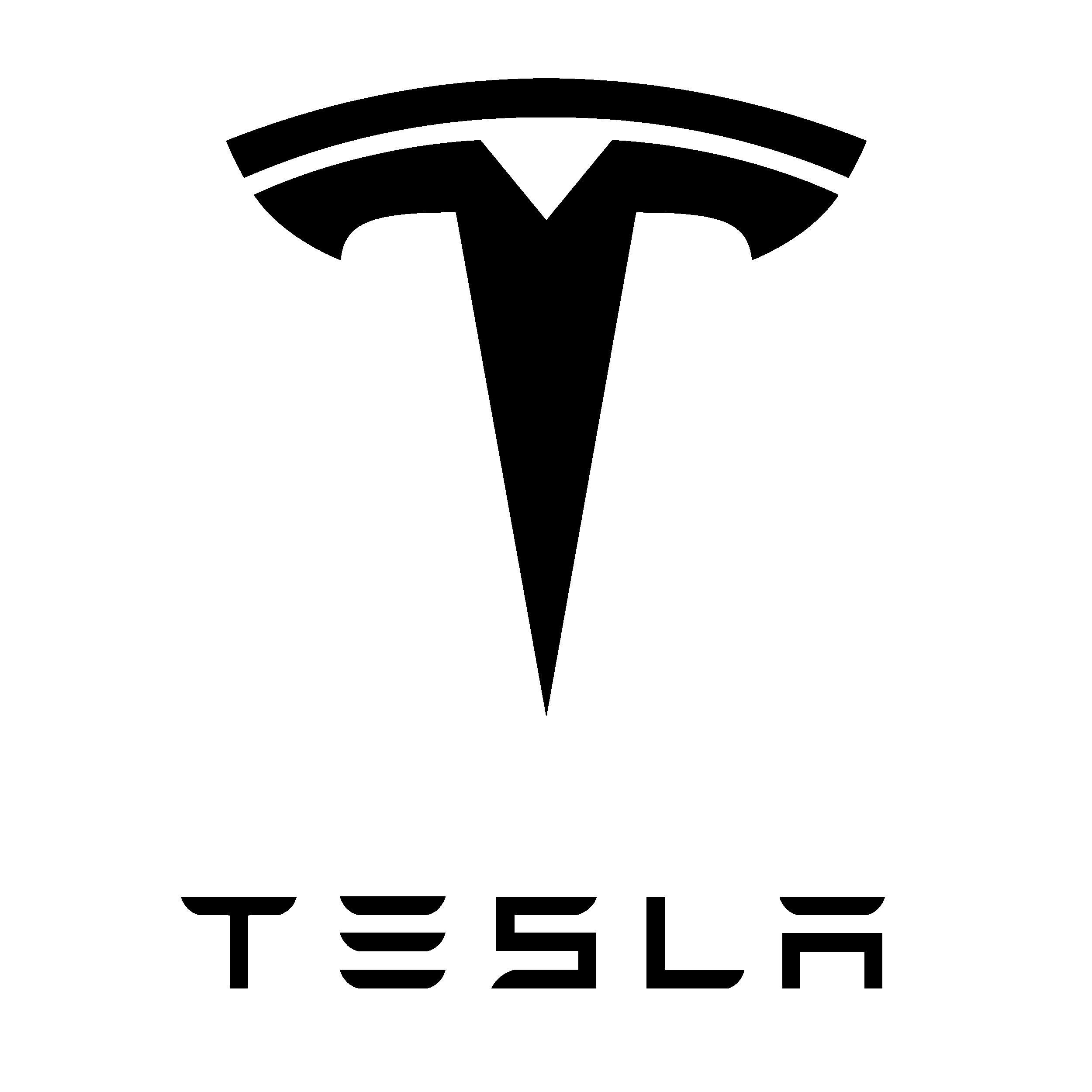 2 Foot Tesla Motors Logo Vinyl Decal Repositionable Sticker - Choose Your Color (Black)