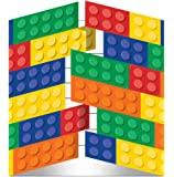 8 Premium Quality Lego Block Party Card Invitations
