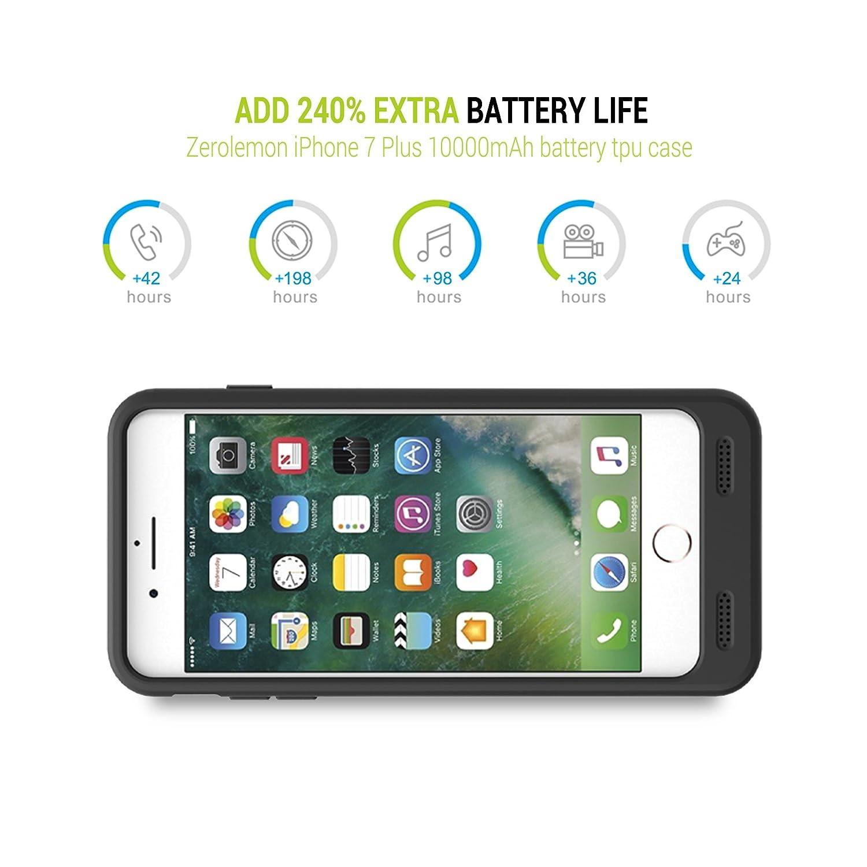 timeless design a8a56 57295 iPhone 8 Plus/7 Plus Battery Case, ZeroLemon iPhone 8 Plus/7 Plus ...