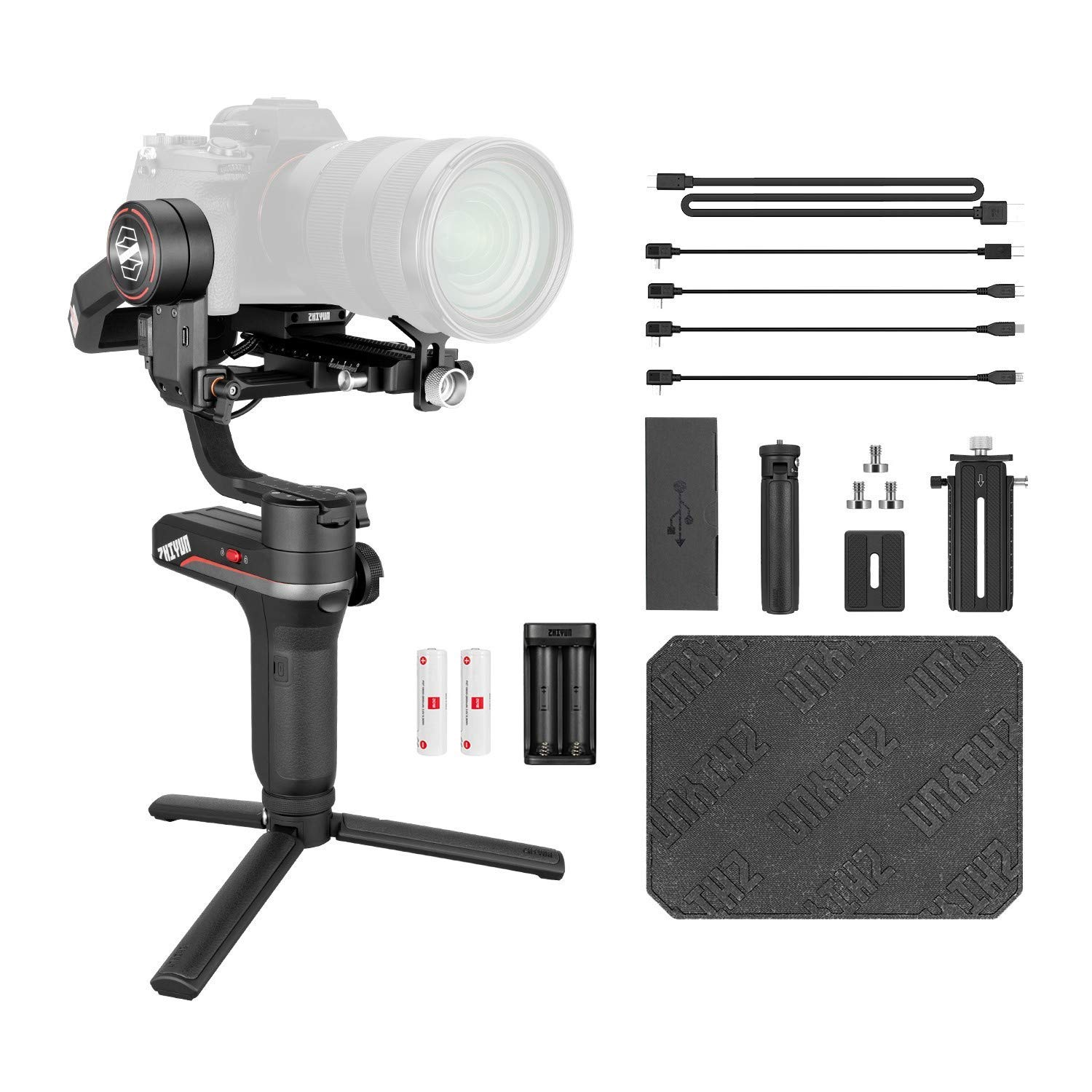 Zhiyun Weebill S 3-Axis Handheld Gimbal Stabilizer for DSLR& Mirrorless Camera Sony A7M3 A7R3 A7 III A9 Nikon Z6 Panasonic S1 GH5s with 24-70mm GM Lens Canon 5D4 5DIV 5DIII 5D3 EOS R BMPCC 4K Weebills by zhi yun