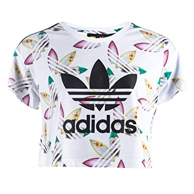 hot sale online 72908 a045e adidas Originals Womens Womens Pharrell Williams Surf Crop T-Shirt in White  - 14  adidas Originals  Amazon.co.uk  Clothing