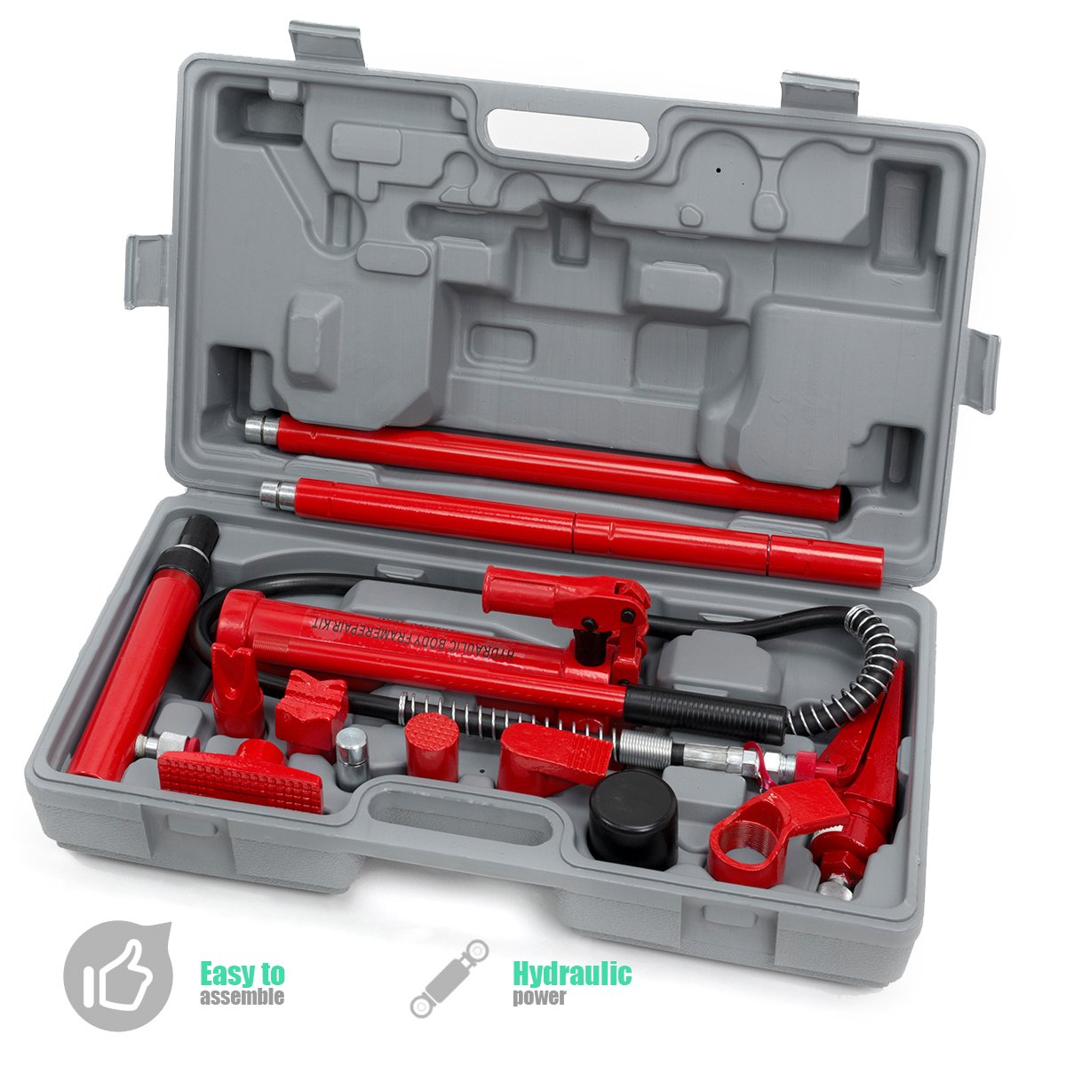 XtremepowerUS Hydraulic Porta Power Auto Body Frame Repair Kit (10 Ton or 4 Ton)