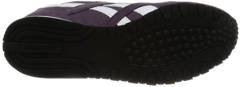 Reebok Damen Classic Sneakers Nylon X Face Sneakers Classic Grau (Meteorite/Purple/Weiß) cd375f
