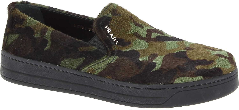 Prada Zapatos de Meter de Moda para Mujer en Piel de Becerro Color Camuflaje - Número de Modelo: 3S5802 3O8T F0161