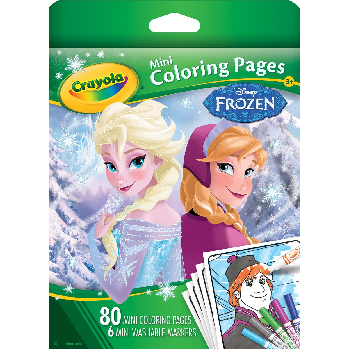 amazoncom crayola frozen mini coloring pages toys games